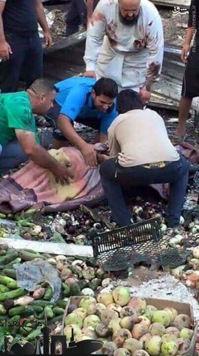 انتحاری خونین داعش در بازار بغداد+عکس