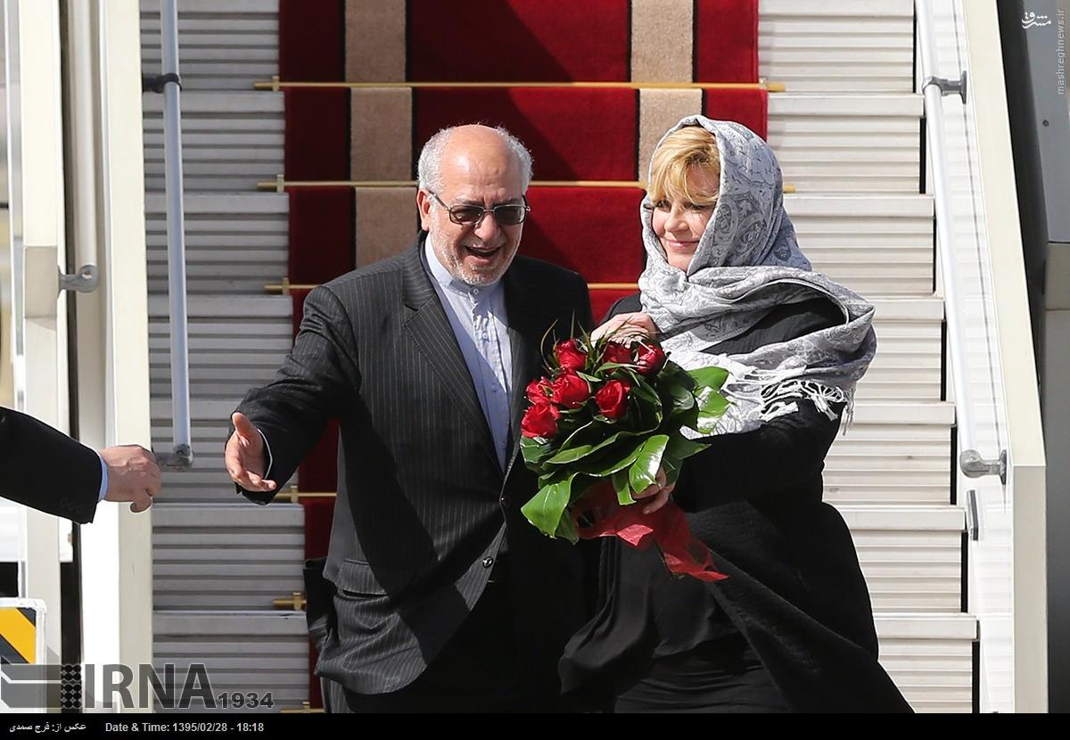 عکس/ پوشش رئیس جمهور کرواسی در تهران