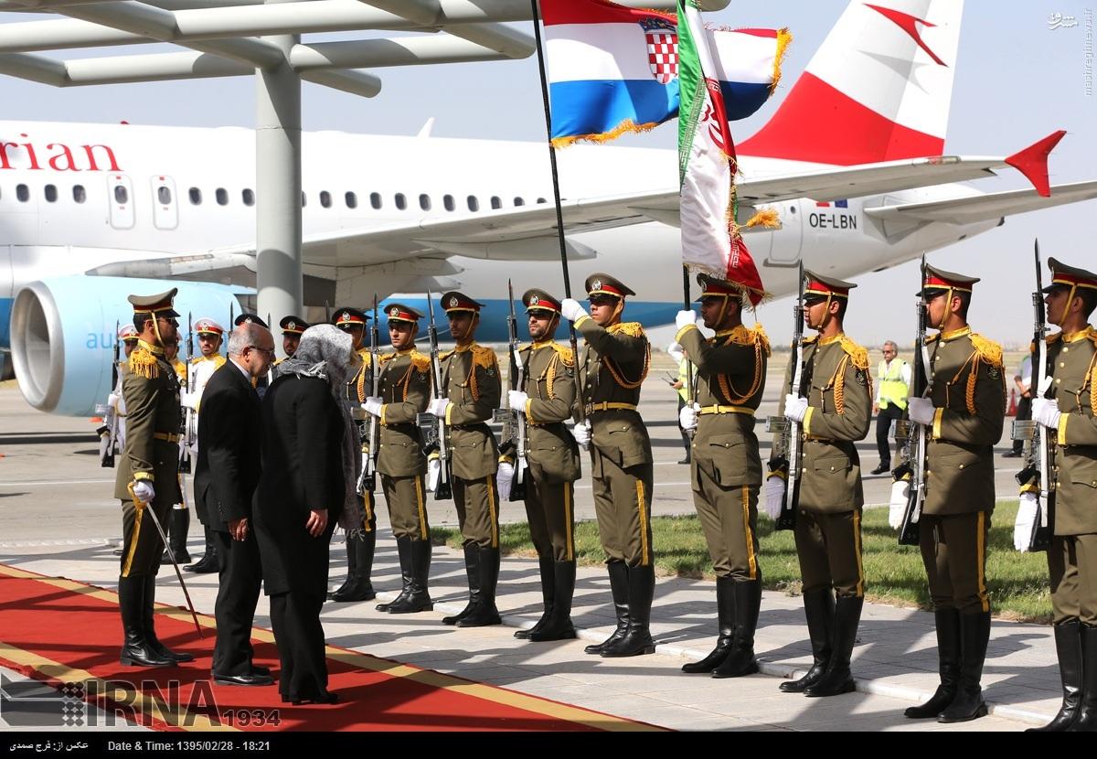 عکس/ هواپیمای رئیسجمهور کرواسی در تهران