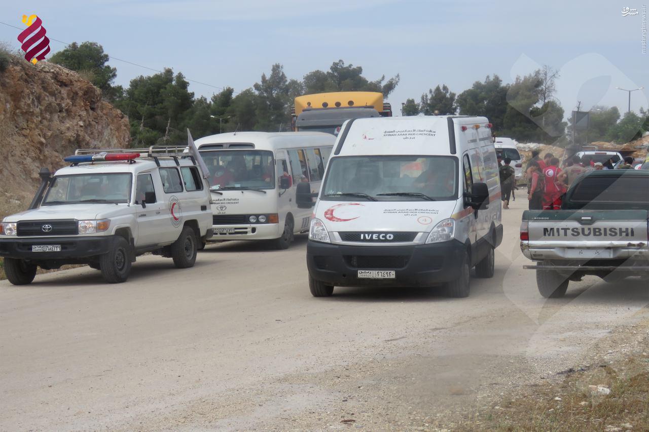 عملیات تبادل میان ارتش سوریه و تروریستها+عکس