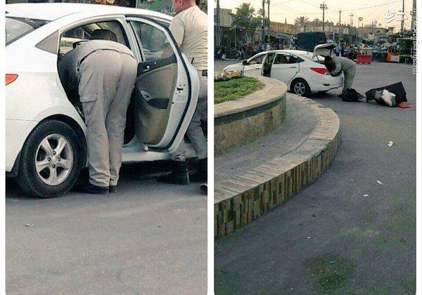 خنثی سازی خودروی بمبگذاری شده در بغداد+عکس