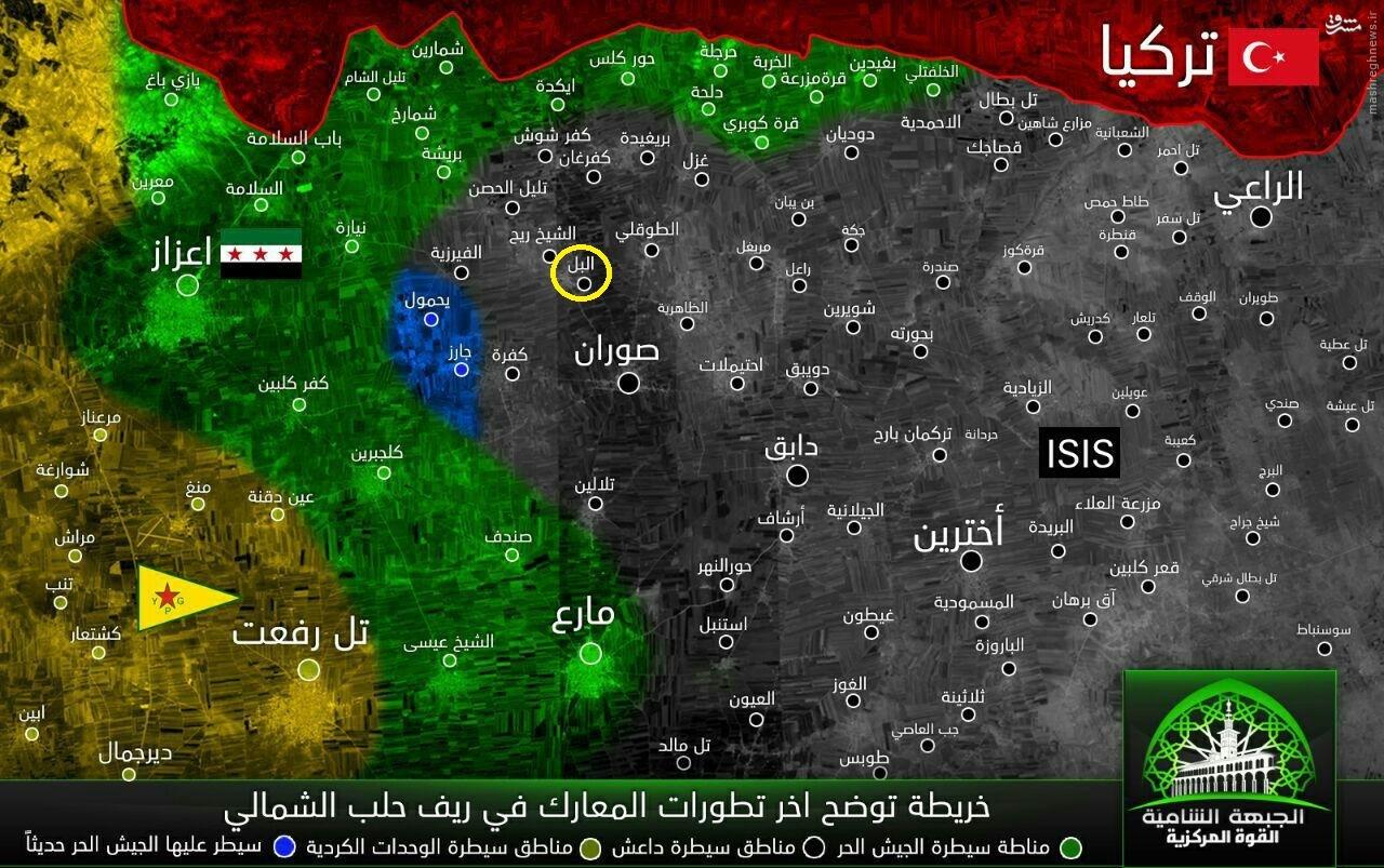 سیطره ارتش آزاد بر مواضع داعش در حلب+عکس