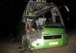 تصادف سنگین اتوبوس ولوو با تریلی