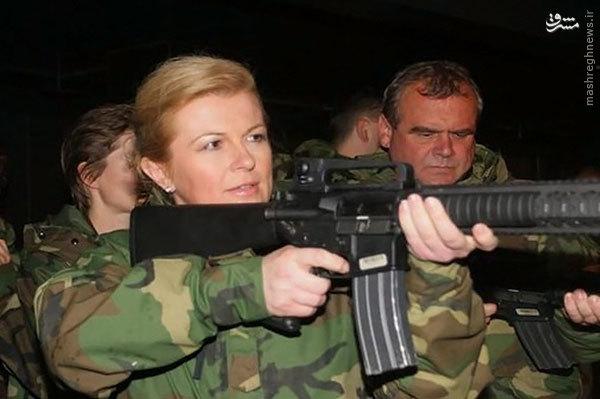 عکس متفاوت از رییس جمهور کرواسی