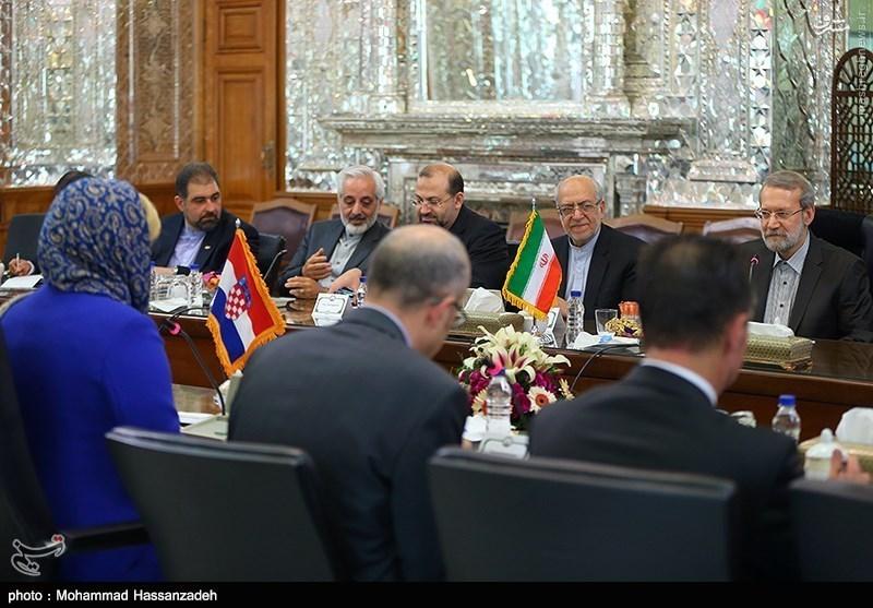 در دیدار لاریجانی با رئیسجمهور کرواسی چه گذشت؟ +عکس