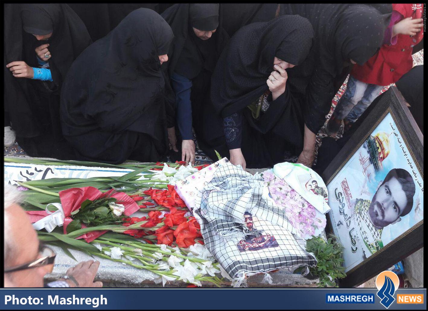 مزار شهید مدافع حرم رضا دامرودی