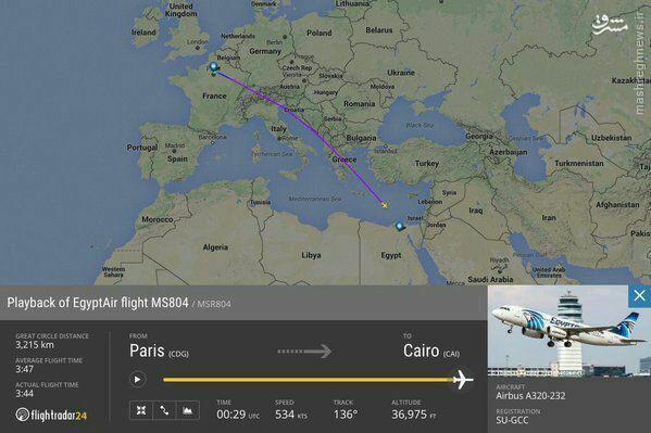 سقوط هواپیمای مسافربری مصری با 60 مسافر