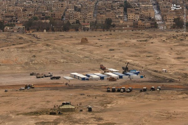 احداث پایگاه نظامی روسیه در تدمر سوریه+عکس