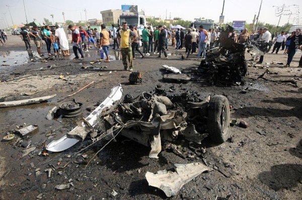 کشف خودروی بمبگذاری شده در شهرک صدر بغداد+عکس
