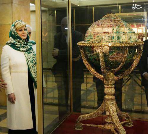 عکس/ بازدید رییس جمهور کرواسی از خزانه جواهرات ملی