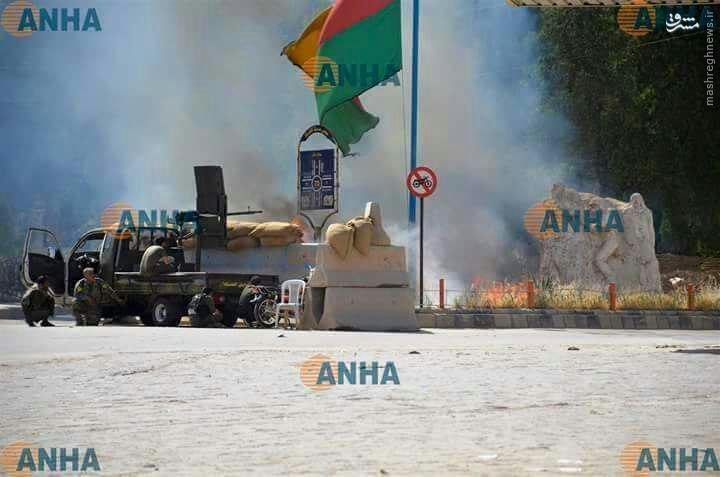 آتش زدن محلات عرب نشین حسکه+عکس