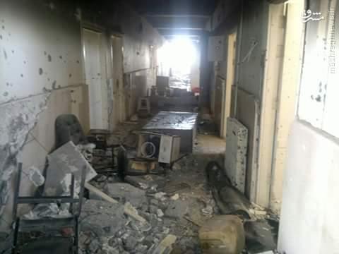 تخریب بیمارستان دیرالزور توسط داعش+عکس