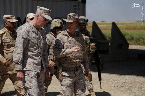 بازدید فرمانده ارتش آمریکا از عراق+عکس