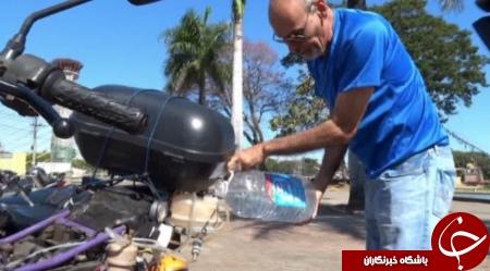 موتورسیکلتی که به جای بنزین با آب کار می کند +تصاویر
