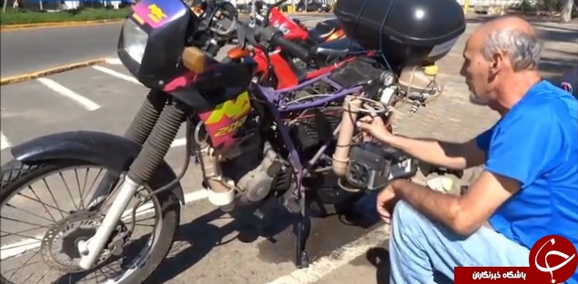 موتورسيكلتي كه به جاي بنزين با آب كار مي كند +تصاوير
