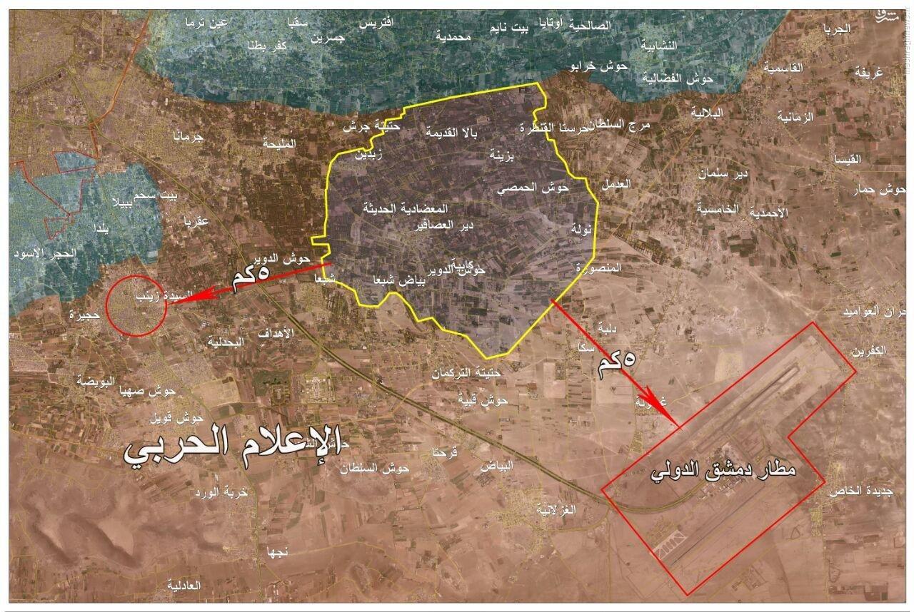 سیطره ارتش سوریه بر 10 منطقه حاشیه دمشق+فیلم و عکس