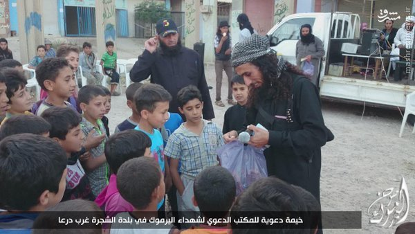 سرباز گیری داعش ازکودکان جنوب سوریه+عکس