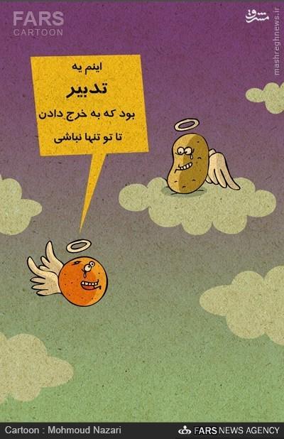 کاریکاتور/ دور ریز ۲۰ میلیارد تومان پرتقال فاسد...