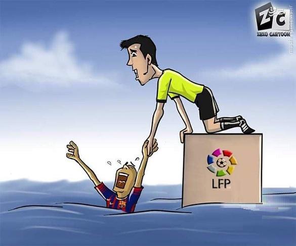 کاریکاتور/ مدیرت بحران بارسلونا توسط داور