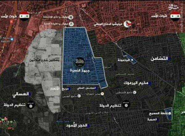 سیطره داعش بر بخش اعظم اردوگاه یرموک دمشق+عکس