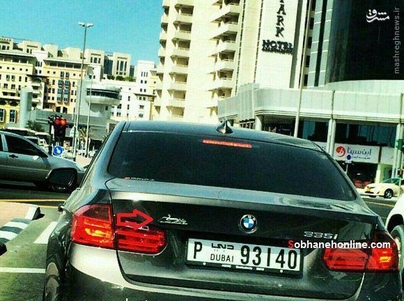 عکس/ BMW با آرم ایران خودرو در دوبی