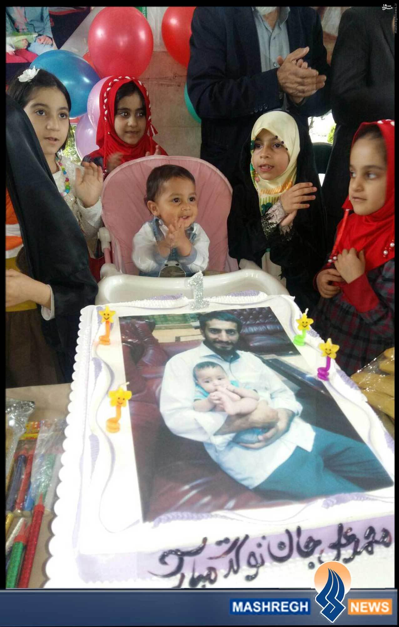 عکس/ اولین جشن تولد بدون بابا
