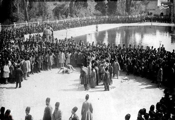 عکس/ کشتی پهلوانی در میدان ارگ تهران