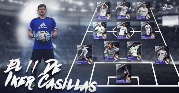 تیم منتخب تمامی ادوار رئال از نگاه کاسیاس +عکس