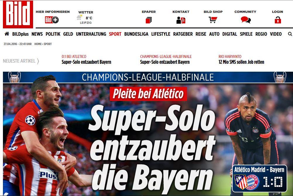 واکنش رسانههای آلمانی به شکست بایرن