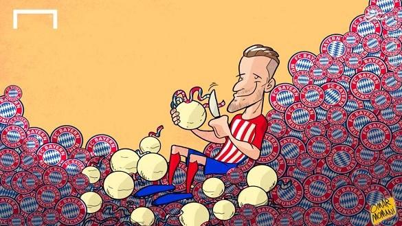 کاریکاتور/ سائول پوست بایرن را کند