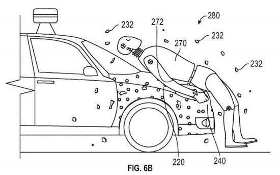 نجات جان عابر برخوردکننده با خودروی خودران گوگل با چسب جادویی