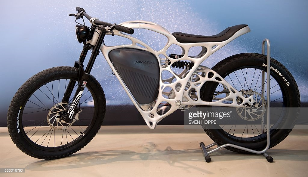 رونمایی از اولین موتور سیکلت چاپی دنیا +عکس