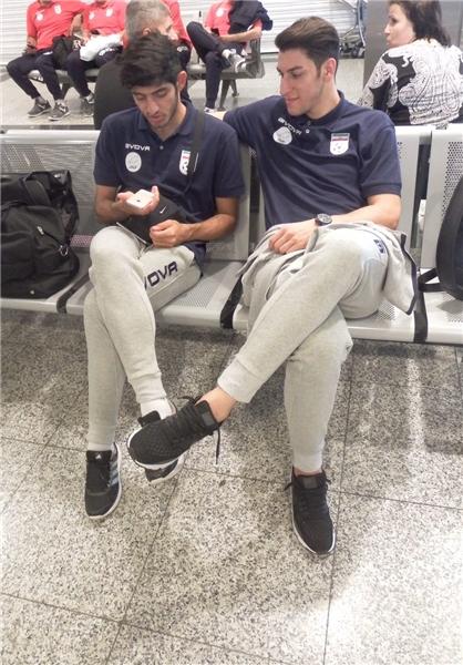 بازیکنان تیم ملی فوتبال به ترکیه رسیدند +عکس