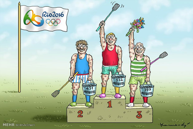 کاریکاتور/ المپیک ریو با طعم زیکا !