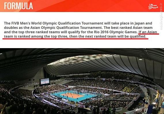 شرایط صعود تیم ملی والیبال به المپیک +فرمول