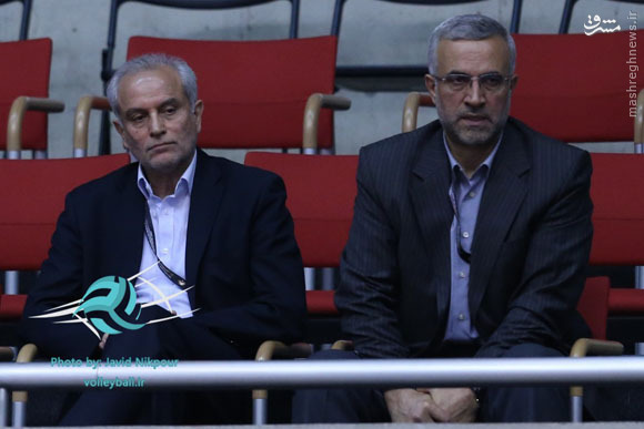 عکس/ مهمان ویژه دیدار والیبال ایران و فرانسه