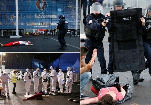 آموزش برای مقابله با حملات احتمالی داعش در یورو ۲۰۱۶+عکس