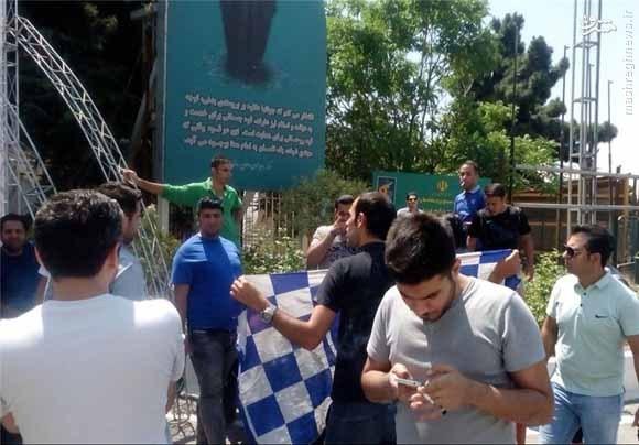تجمع اعتراضآمیز هواداران آبی مقابل وزارتورزش+عکس