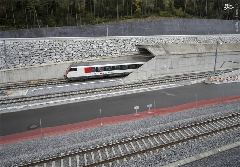 افتتاح طولانیترین مسیر تونلی راهآهن در جهان +عکس