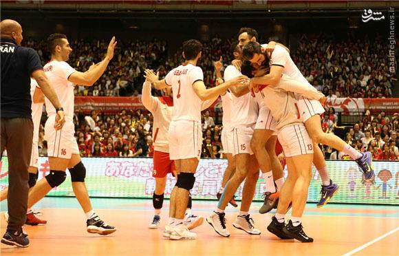 عکس/ شادی بلندقامتان پس از پیروزی بر ژاپن