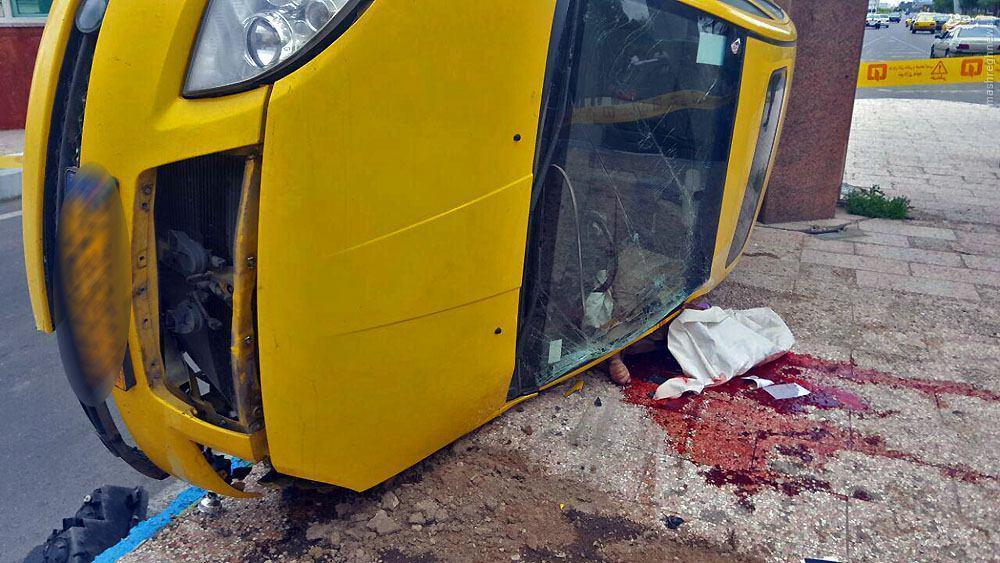 عکس/ مرگ دلخراش راننده تاکسی