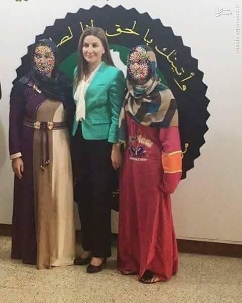 آزادی دو زن کرد از زندان داعش در فلوجه+عکس