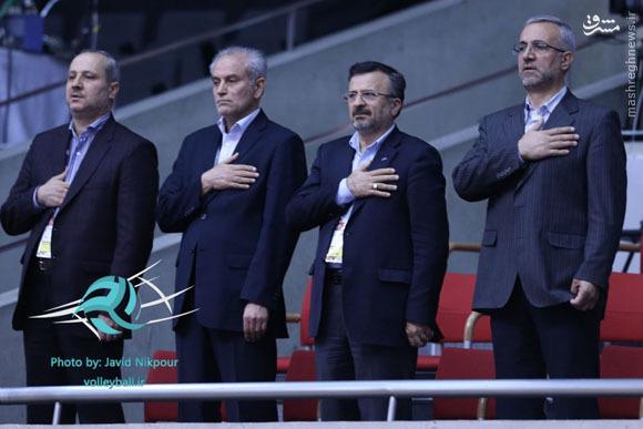 عکس/ مهمانان دیدار والیبال ایران و چین