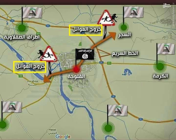 فیلم/فرار نیروهای داعش از فلوجه با لباس مبدل