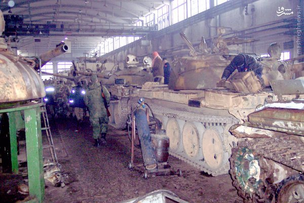 کارخانه تولید تانک حمص سوریه+عکس
