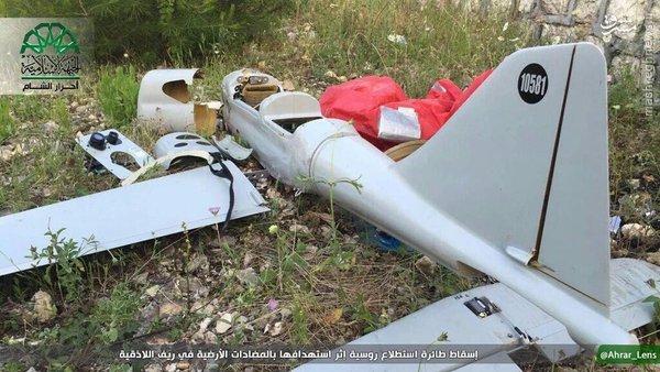 سقوط پهپاد روسی در لاذقیه سوریه+عکس