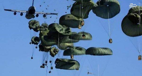 ارسال هوایی سلاح و مهمات توسط آمریکا برای القاعده و ارتش آزاد+عکس