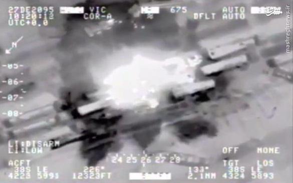 حملات شدید بمب افکن روسی به کاروان نفت داعش
