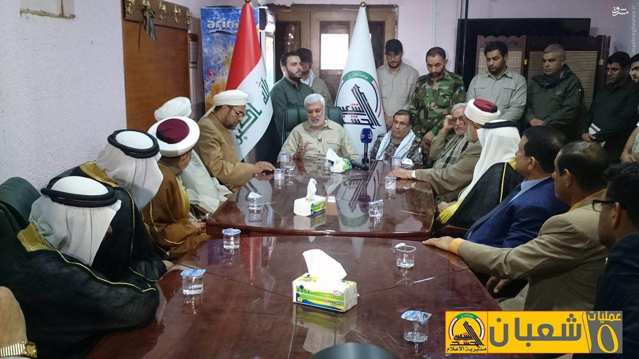 حضور علمای اهل سنت عراق در اطراف فلوجه+عکس