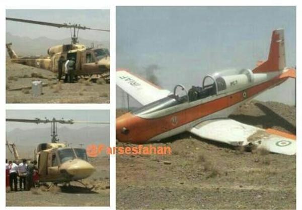 سقوط هواپیمای آموزشی نهاجا در اصفهان+عکس